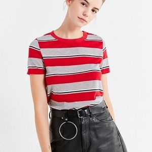 UO truly madly deeply boxy striped tee